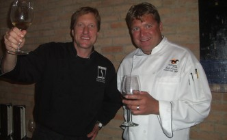 Robert Valaika of Shabu and Seth Adams of Riverhorse at the Association of Food Journalists' Taste of Park City.
