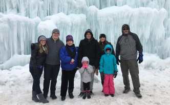 The Phillips clan at Ice Castles in Midway!